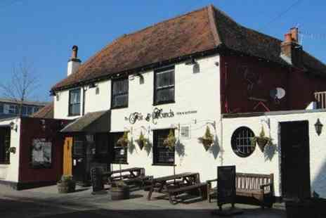Fox & Hounds Pub - Two Course Meal with a Glass of Wine for Two or Four - Save 52%