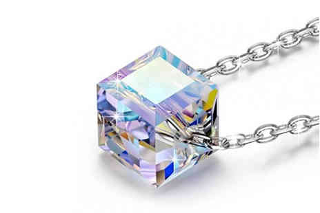 Your Ideal Gift - Cube pendant made with crystals from Swarovski - Save 82%