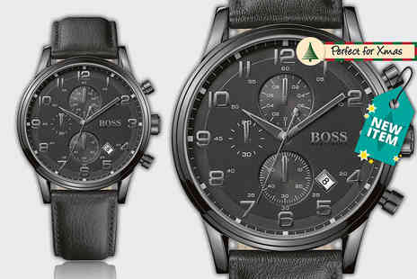 D2 Time - Hugo Boss black chronograph watch - Save 60%