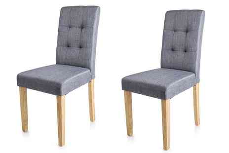 Groupon Goods Global GmbH - Two or Four Eiko Fabric Dining Chairs With Free Delivery - Save 67%