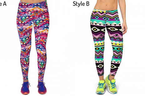 Richardson - High Waisted Printed Leggings Available in 5 Designs, 4 Sizes - Save 60%