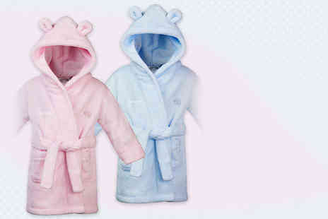 Treats on Trend - Personalised kids robe in 2 colours - Save 61%