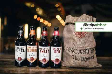 Lancaster Brewery - Brewery tour for two with handmade pork pies, pickles and up to three pints each - Save 67%