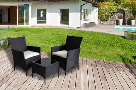 Evre - Three piece Venice rattan bistro set - Save 69%