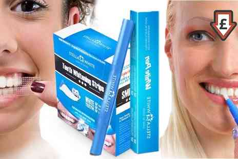 Groupon Goods Global GmbH - Stella White Teeth Whitening Strips and Pens - Save 94%