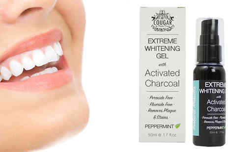 Cougar Beauty Products - Cougar Teeth Whitening Gel with Activated Charcoal - Save 60%