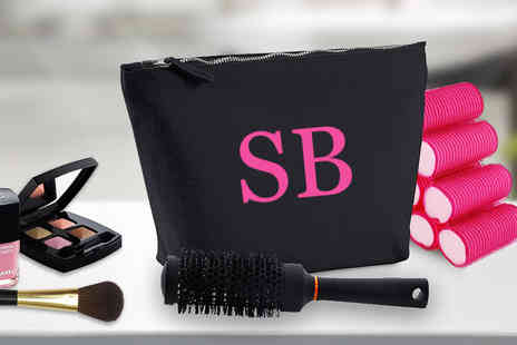 Treats on Trend - Extra large personalised initial makeup bag - Save 61%
