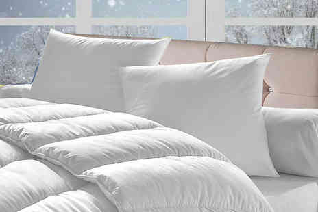 Home Furnishings Company - 15 tog winter duvet and four pillows - Save 74%