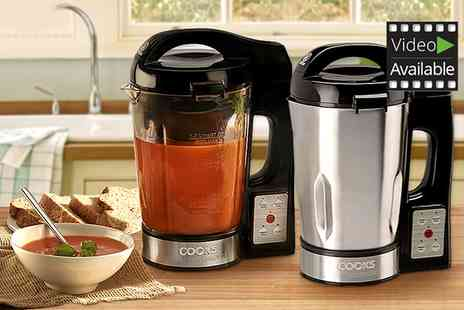 Groupon Goods Global GmbH - Cooks Professional Stainless Steel or Glass Soup Maker - Save 61%