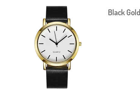 Trendy Banana - Classic Unisex Watch with Round Dial Choose from Three Colours - Save 82%