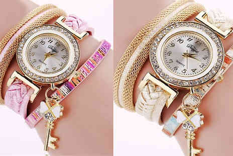 Trendy Banana - Key Charm Wrap Watches Available in Six Colours - Save 82%