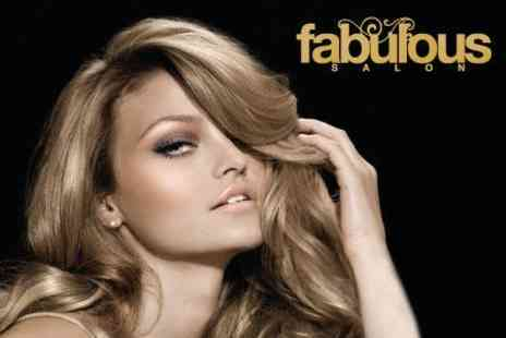 Fabulous Salon - Haircut and Style Plus Eyebrow Threading - Save 60%