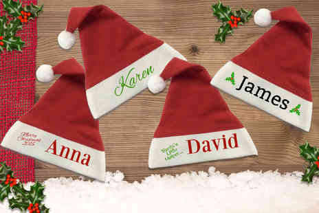 Eastmon Online - Personalised Santa hat choose from four designs - Save 47%