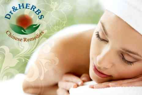 Dr and Herbs - One Hour Massage and Oriental Tea - Save 66%