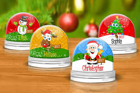 Dinkleboo - Personalised snow globe choose multiple designs - Save 40%