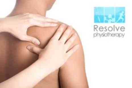Resolve Physiotherapy - Back Pain Consultation and Treatment - Save 67%