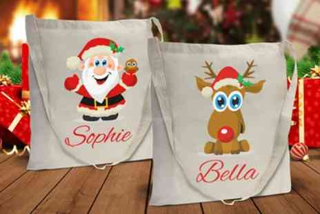 Dinkleboo - One or Two Personalised Christmas Bags - Save 67%