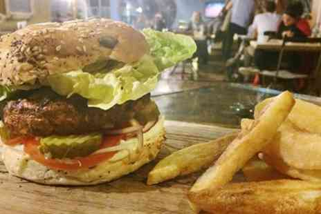 Mud Dock Cafe - Choice of Burger with Chips for One, Two or Four - Save 50%
