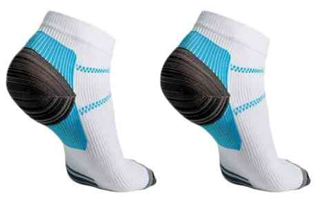 Groupon Goods - Up to 4 pairs of Ankle Compression Socks - Save 77%
