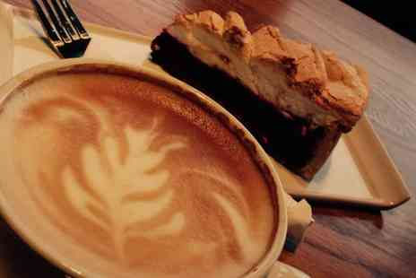 Brew & Bean - Cake and Hot Drink for Two or Four - Save 48%
