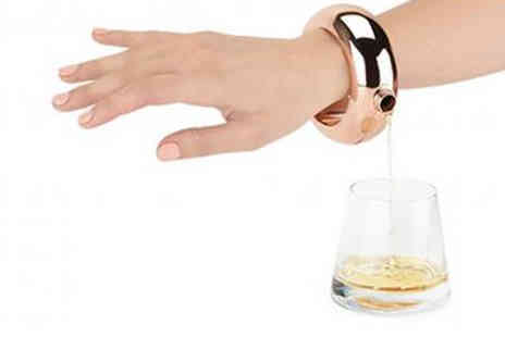 Graboom - Stainless Steel and Copper Bracelet Flask - Save 67%