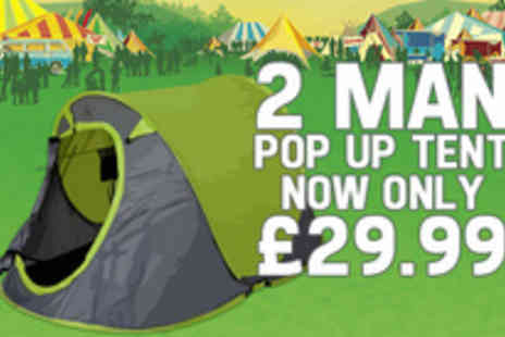 Gadgets and Products - Keep calm and carry on camping with off a two-man pop up tent - Save 57%