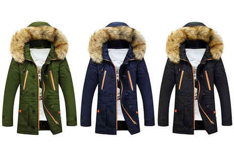 HA Trading - Mens parka coat with fur hood - Save 68%