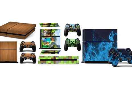 Groupon Goods Global GmbH - One or Three Play Station 4 Slim Skin Sets - Save 29%