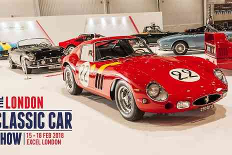 The London Classic Car Show - Ticket to London Classic Car Show on 16 to 18 February 2018 - Save 26%