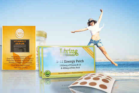 Seatedtoad - Vitamin C facial serum and Vitamin B 12 energy patches mega bundle - Save 90%