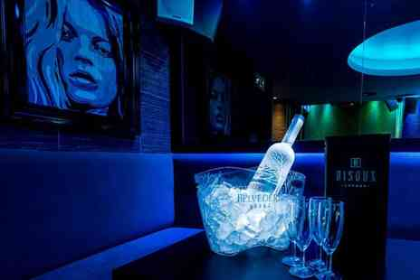 Bisoux Lounge - Club Party Package with Table Hire and Drinks for up to Ten People - Save 0%