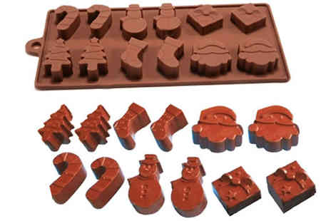 Targarian - 12 Shape Christmas Silicone Baking Mould - Save 0%