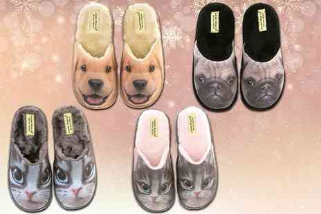 London Shoe Co - 3D novelty animal slippers - Save 41%