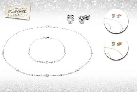 Lily Spencer - Crystal jewellery set made with swarovski elements - Save 88%