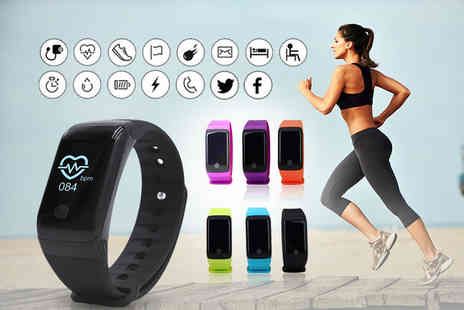 Tomllo - HR10 Plus fitness tracker smart watch select from six colours - Save 87%