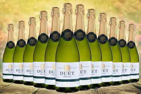 Easy Gifts - Pack of 12 bottles of Duet White Brut sparkling wine - Save 56%
