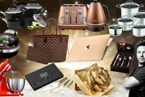 Groupon Goods Global GmbH - Homeware Mystery Gift with a Chance to Win a Gold MacBook, KitchenAid Mixer, Delonghi Toaster Set and More - Save 0%