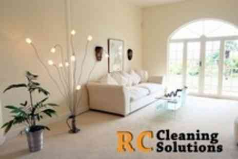 RC Cleaning Solutions - Domestic Carpet Cleaning For Up to Three Rooms and Four Hour Intensive Clean - Save 76%
