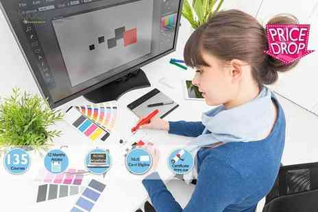 E Courses 4 You - Adobe web And graphic design 135 course master package - Save 98%
