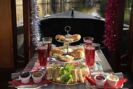 Lancashire Canal Cruises - 90 minute boat cruise for two include a festive afternoon tea with mulled wine and Christmas cracker each - Save 50%