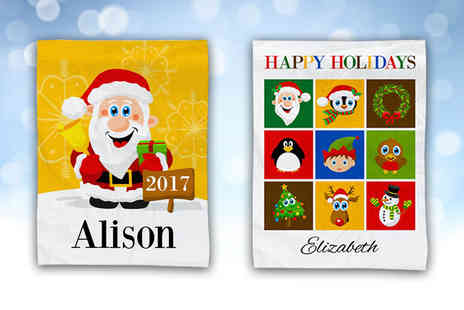 Eastmon Online - Small personalised Christmas kids blanket - Save 78%