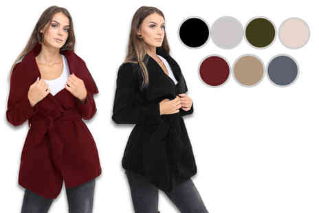 Verso Fashion - Ladies waterfall jacket choose from seven colours - Save 53%