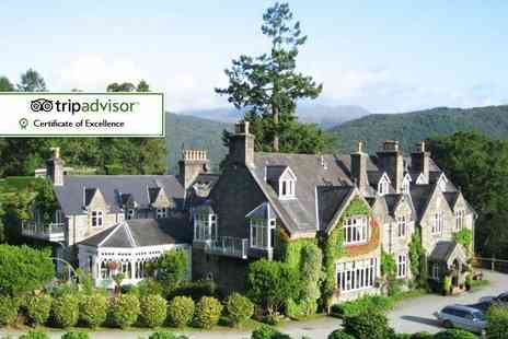 Penmaenuchaf Hall Hotel - Two night Snowdonia stay for two with sparkling wine on arrival, breakfast, £10pp dinner vouchers and late check out - Save 54%