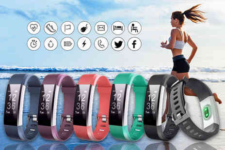Tomllo - 14 in 1 VeryFit fitness tracker with heart rate monitor choose from five colours - Save 90%