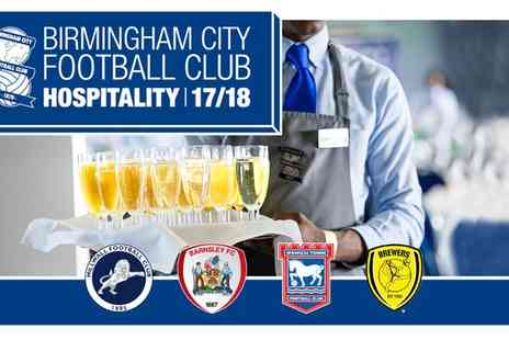 Birmingham City Football Club - Birmingham City Hospitality VIP Package Four Fixtures on 17 February 2018 To 7 April 2018 - Save 0%