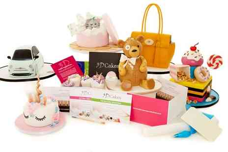 3D Cakes - Choice of 2.5 Hour or Full Day Cake Masterclass Gift Pack for One or Two - Save 0%