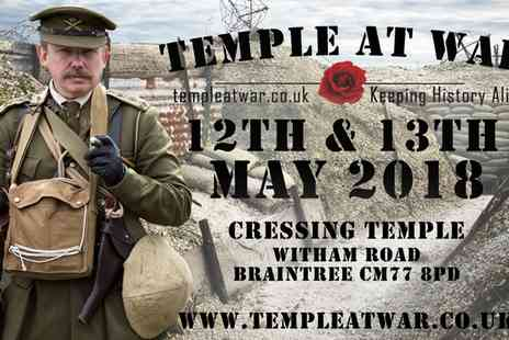 Temple At War - One child, adult or family ticket to Temple at War Military and Vintage Show on 12 To 13 May 2018 - Save 22%
