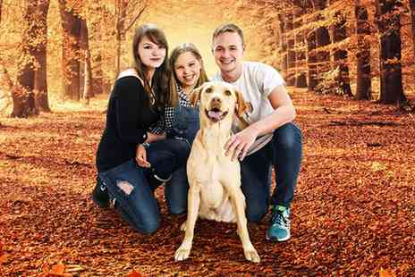 Kline Studios - Festive Family Photoshoot with Six Prints, Two Keyrings and Six Christmas Cards or Chocolates - Save 0%