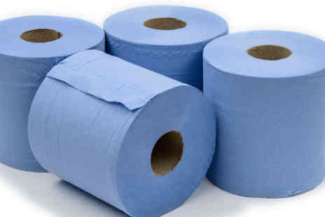 TLD Marketing - Two Ply Blue Paper Rolls Choose from Packs of 6, 12 or 18 - Save 33%
