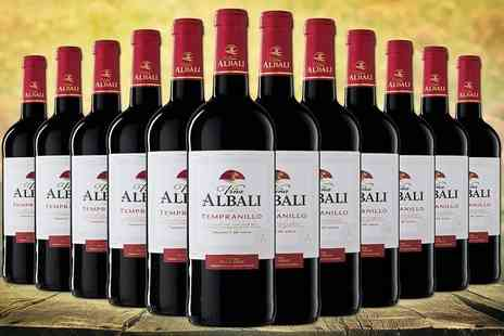 Easy Gifts - 12 bottles of internationally awarded red Tempranillo wine - Save 56%